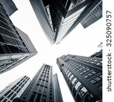abstract futuristic cityscape... | Shutterstock . vector #325090757