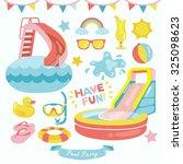 pool party vector design... | Shutterstock .eps vector #325098623