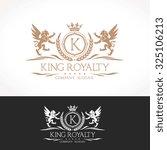 k letter king royalty luxury...   Shutterstock .eps vector #325106213