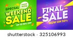 weekend sale and final sale... | Shutterstock .eps vector #325106993