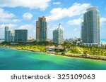 aerial view of south miami... | Shutterstock . vector #325109063