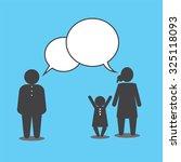 family talking. the quarrel of... | Shutterstock .eps vector #325118093