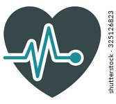 heart pulse vector icon. style...   Shutterstock .eps vector #325126823