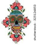 skull mexico | Shutterstock . vector #325126853