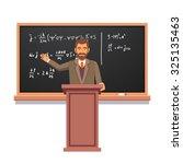 university professor standing... | Shutterstock .eps vector #325135463
