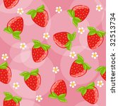 Seamless strawberry background vector - stock vector
