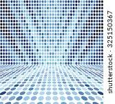 blue dot empty perspective... | Shutterstock . vector #325150367