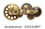 metal collage of clockwork... | Shutterstock . vector #325151897