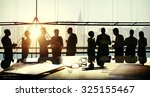 group people silhouette... | Shutterstock . vector #325155467