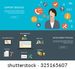 flat designed banners for... | Shutterstock .eps vector #325165607