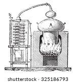 still  vintage engraved... | Shutterstock .eps vector #325186793