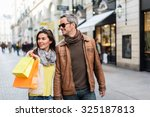 Stylish Couple Walking In A...
