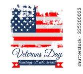 veterans day flag vector... | Shutterstock .eps vector #325200023