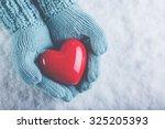 woman hands in light teal... | Shutterstock . vector #325205393