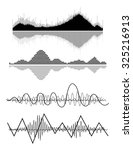 vector music sound waves set.... | Shutterstock .eps vector #325216913