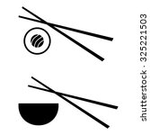 vector sushi logo design... | Shutterstock .eps vector #325221503