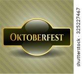 oktoberfest golden emblem | Shutterstock .eps vector #325227467