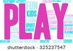 play word cloud on a white... | Shutterstock .eps vector #325237547