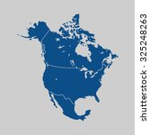 map of north america | Shutterstock .eps vector #325248263