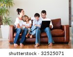 happy family playing together...   Shutterstock . vector #32525071