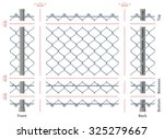 highly detailed chain link... | Shutterstock .eps vector #325279667