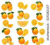 orange isolated on white... | Shutterstock . vector #325282157