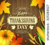 hand drawn thanksgiving... | Shutterstock .eps vector #325283027