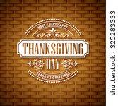 thanksgiving typography ... | Shutterstock .eps vector #325283333