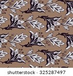 celadon floral pattern lily... | Shutterstock .eps vector #325287497