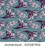 celadon floral pattern lily... | Shutterstock .eps vector #325287503