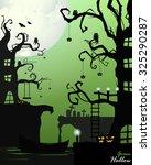 halloween in green | Shutterstock .eps vector #325290287