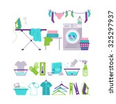 Set Of Laundry And Washing...