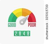credit score gauge. vector eps... | Shutterstock .eps vector #325315733