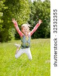 child of 5 years old jumping... | Shutterstock . vector #32532355