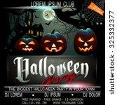 halloween party flier template. ... | Shutterstock .eps vector #325332377