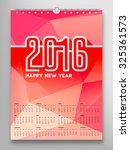 Calendar 2016  Triangle...