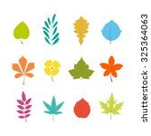 set of colorful leaves icons... | Shutterstock .eps vector #325364063