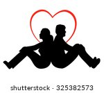 man and woman   young couple in ... | Shutterstock . vector #325382573