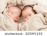 twin baby  japanese | Shutterstock . vector #325391153