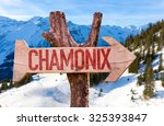 Chamonix Wooden Sign With...