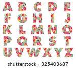 floral alphabet | Shutterstock .eps vector #325403687