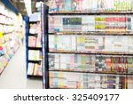 abstract book store blurred...   Shutterstock . vector #325409177
