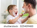 joyful child little boy... | Shutterstock . vector #325409483