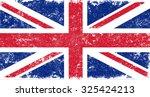 grunge uk flag.british flag... | Shutterstock .eps vector #325424213