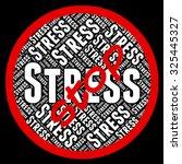 stop stress showing pressures... | Shutterstock . vector #325445327
