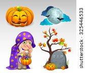 halloween set | Shutterstock .eps vector #325446533