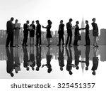 outdoor business meeting in new ... | Shutterstock . vector #325451357