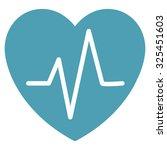 heart ekg vector icon. style is ... | Shutterstock .eps vector #325451603