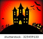 halloween background | Shutterstock . vector #325459133