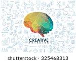 conceptual polygonal brain ... | Shutterstock .eps vector #325468313